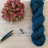 🍂🍂Pétrole 🍂🍂  J'adore cette couleur. Et j'ai prévu de tricoter le #giletrendezvous de @atelieremilie dans ce coloris...   Est-ce que cette couleur vous plaît autant qu'à moi?  #latelierteinture #laineteintealamain #handdyedyarn #artisanatfrancais #laine #tricot #yarninspiration #yarnlove